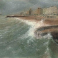 Autumn Tide by John Whiting –  Pastel (58x39cm) –  SOLD