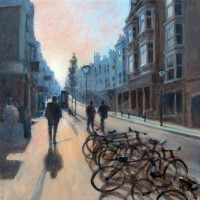 Early Morning by John Whiting –  Oil on canvas (40x40cm) –  SOLD