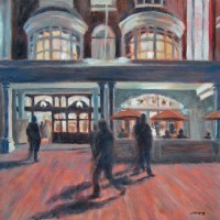 Night Shadows by John Whiting – Oil on canvas (40x40cm) –  SOLD