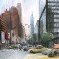 34th and 8th – John Whiting Pastel 40x40cm – £500
