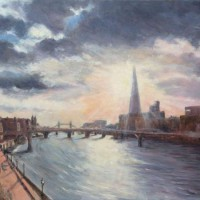 Blackfriars morning – John Whiting Oil on canvas 80x60cm – £1500 framed