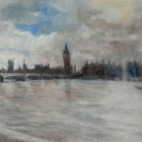 Westminster – John Whiting Oil on canvas board 40x30cm – £750 framed