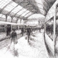 Morning Arrivals – John Whiting Ink (39x29cm) £ 350 framed