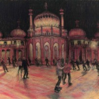 Pink Pavilion – John Whiting Pastel on board (72x54cm) –  SOLD