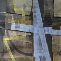Deanland original runway, oil on canvas, 140 x 160cm, by Alexander Johnson