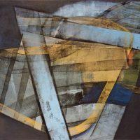 Deanland runways intersection, oil on canvas,95x140cm, by Alexander Johnson