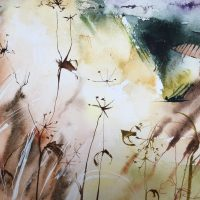 Smoke - watercolour by Kate Osborne - £ 595 framed