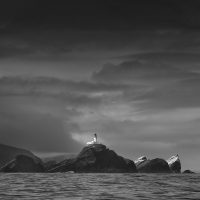 Northern light - Muckle Flugga Lighthouse