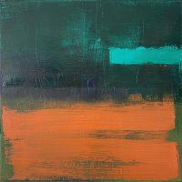 Foxy, 36x36cm, oil & acrylic on canvas