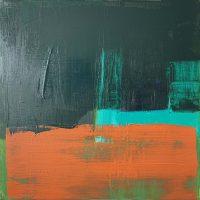 Glimpse of Hawkweed, 36x36cm, oil & acrylic on canvas