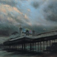 Palace Pier at dusk, 57x41cm, pastel on paper, £680 framed