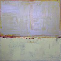 Scabious Mist, 100x100cm, oil & acrylic on canvas