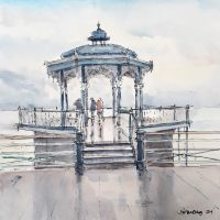 Brighton Bandstand, pen and coloured ink - £250 framed (30x30cm)