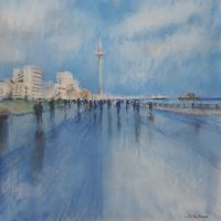 Hove Promenade, pastel on paper - £350 framed (40x40cm)