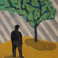 BASQUE MAN UNDER TREE - Alexander Johnson - oil on canvas, 60 X 66CM - £ 895