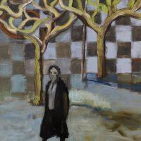 BASQUE WOMAN WALKING - Alexander Johnson - oil on canvas, 60 x 66cm - £ 895
