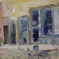 BOMBED STREET, GUERNICA 1937 - Alexander Johnson - oil on canvas, 24 x 30cm - £ 500