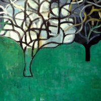 GUERNICA OAKS - Alexander Johnson - oil on canvas 130 x 117cm - £ 3,500