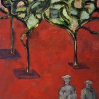MARKET SQUARE, GUERNICA - Alexander Johnson - oil on canvas, 60 x 66cm - £ 895