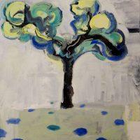 PLANE TREE, GUERNICA- Alexander Johnson, oil on canvas 60 x 66cm - £ 895