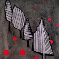 RECEDING TREES - Alexander Johnson -  oil on canvas 60 X 66cm - £ 895
